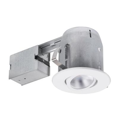 5 in. White LED IC Rated Swivel Spotlight Recessed Lighting Kit Dimmable Downlight