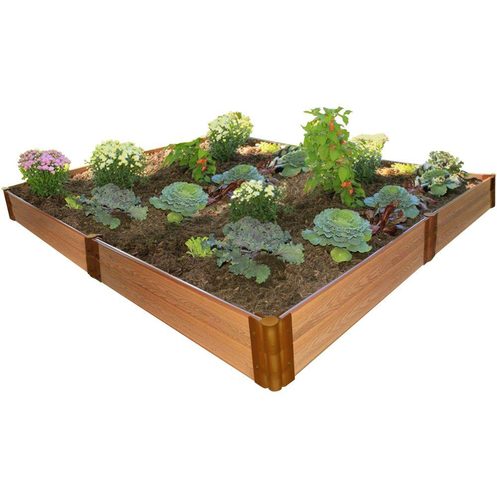Frame It All One Inch Series 8 ft. x 8 ft. x 11 in. Composite Raised Garden Bed Kit