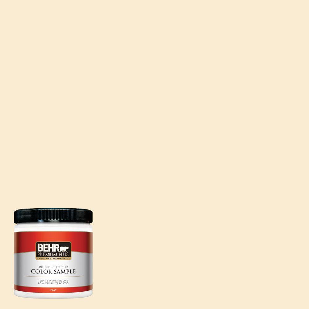 8 oz. #OR-W4 Nice Cream Flat Interior/Exterior Paint and Primer in