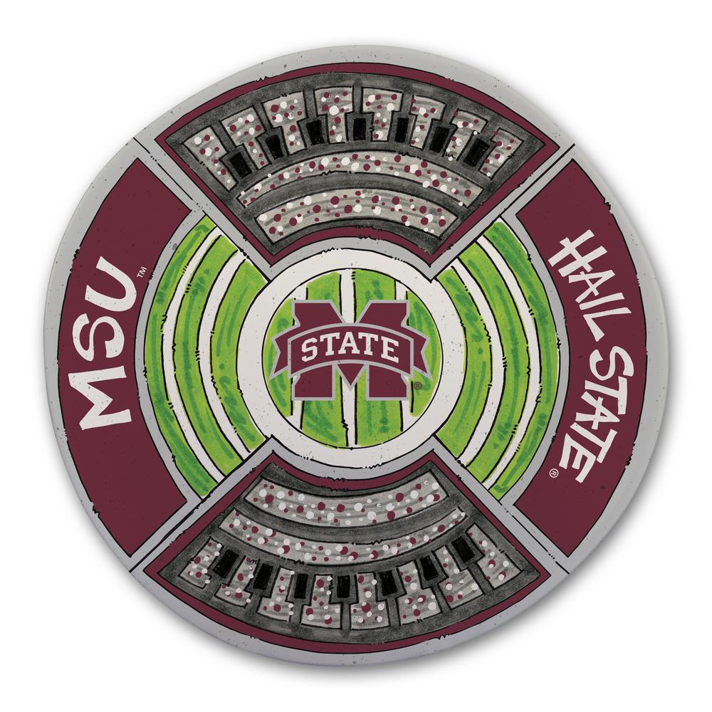 Mississippi State Football Stadium Melamine Platter