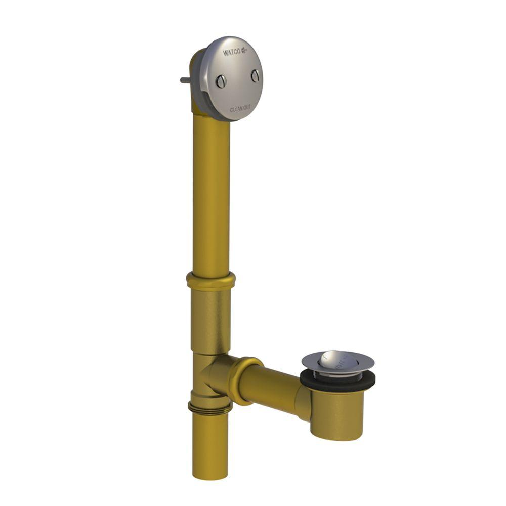 501 Series 16 in. Tubular Brass Bath Waste with PresFlo Bathtub