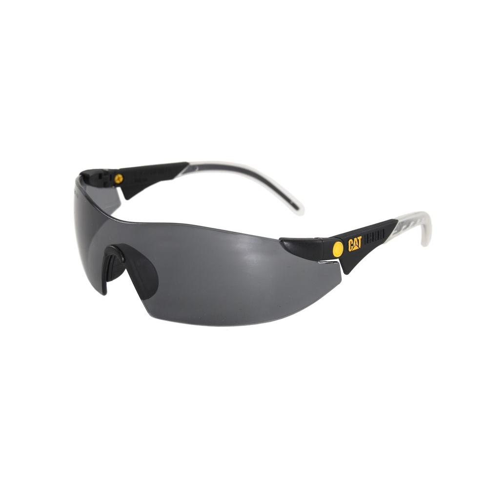 90df1c13a18 CAT Safety Glasses Dozer Smoke Lens with Case-DOZER-104 - The Home Depot