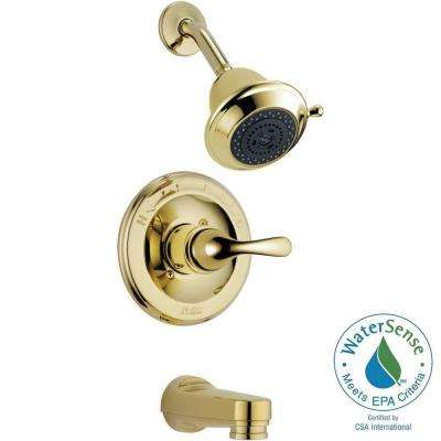 Classic Single-Handle 3-Spray Tub and Shower Faucet in Polished Brass (Rough-In Not Included)
