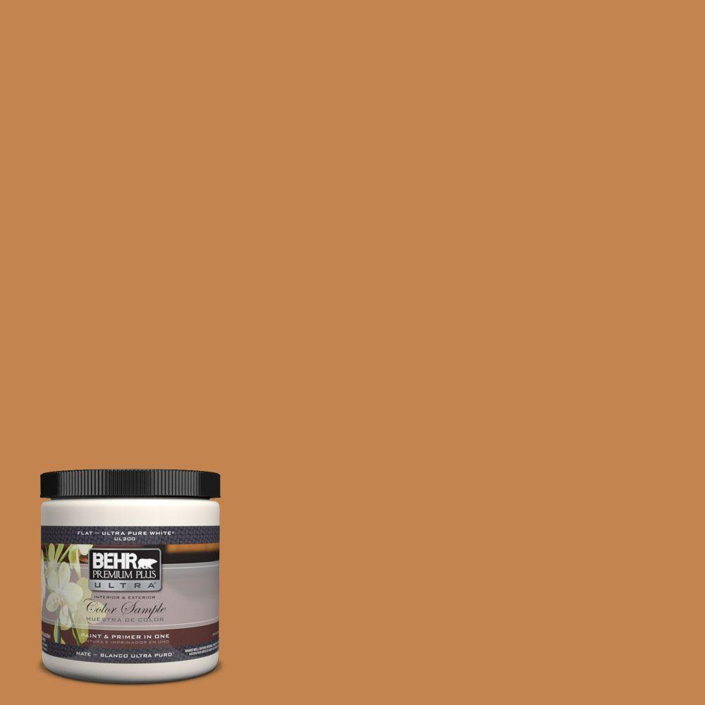BEHR Premium Plus Ultra 8 oz. #UL120-9 Butter Rum Interior/Exterior Paint Sample
