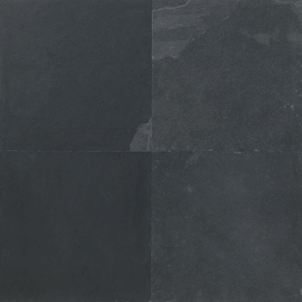 Daltile Natural Stone Collection Brazil Black 12 in. x 12 in. Slate Floor and Wall Tile (6 sq. ft. / case)-DISCONTINUED