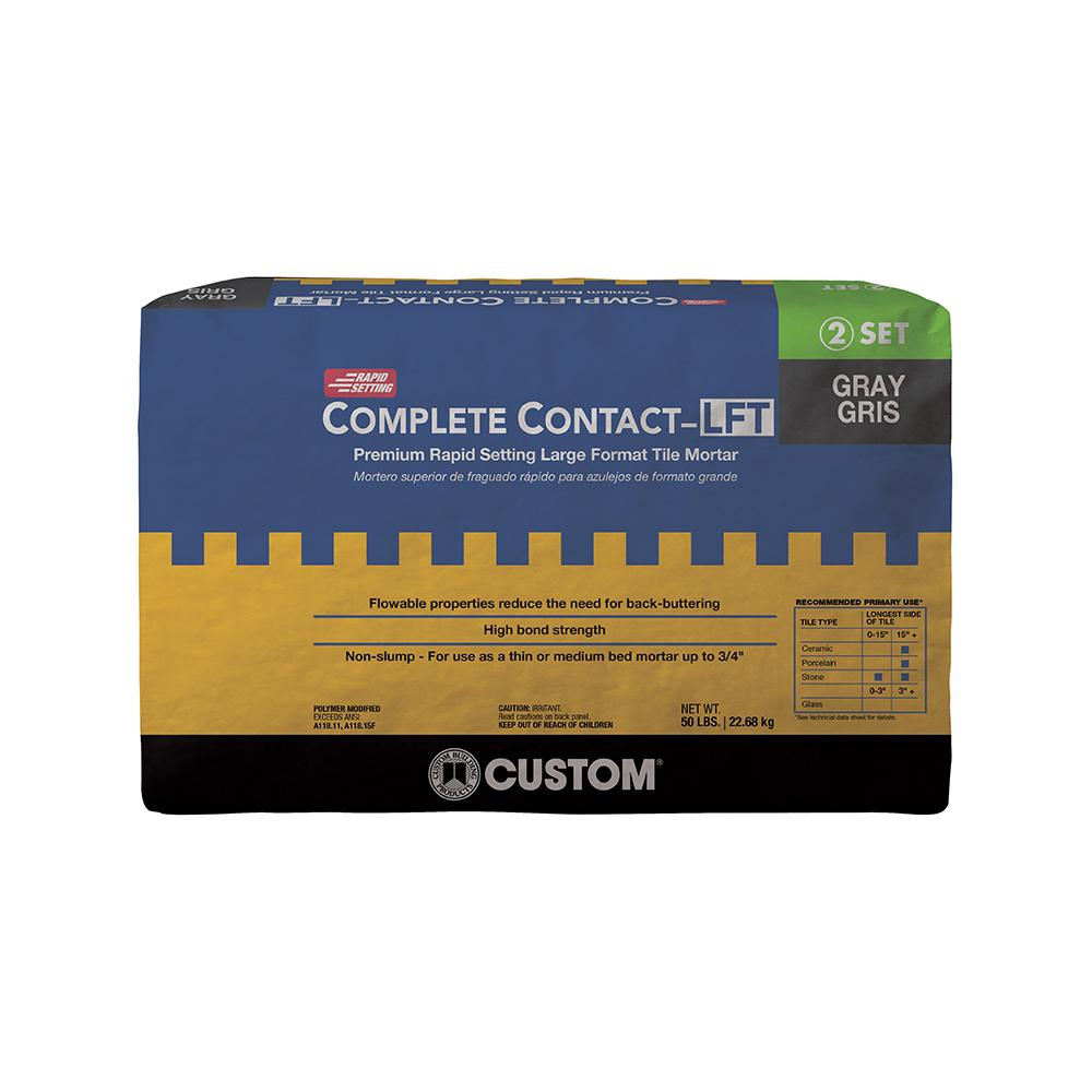 Complete Contact Gray 50 lb. Large Format Rapid Setting Tile Mortar