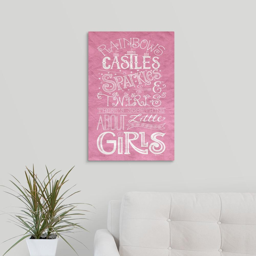 Something about little girls by deb strain canvas wall art