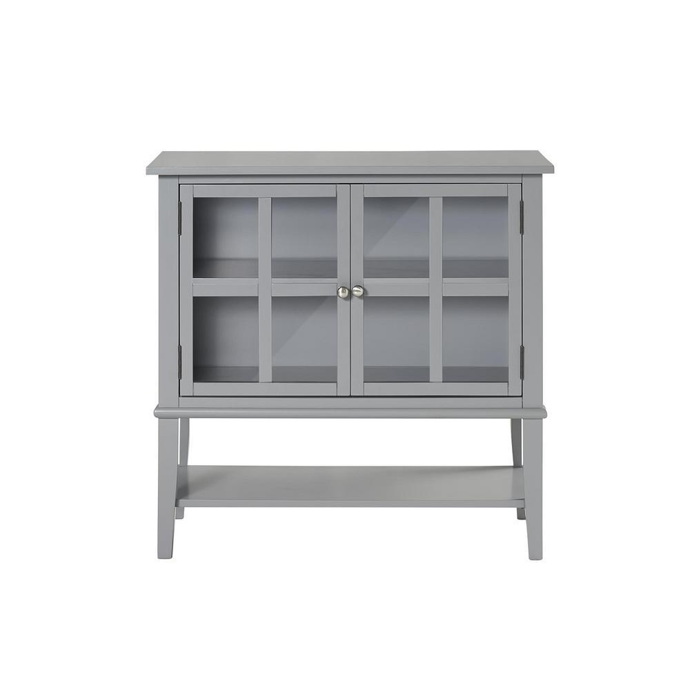 Ameriwood Queensbury 2-Door Gray Storage Cabinet HD09565