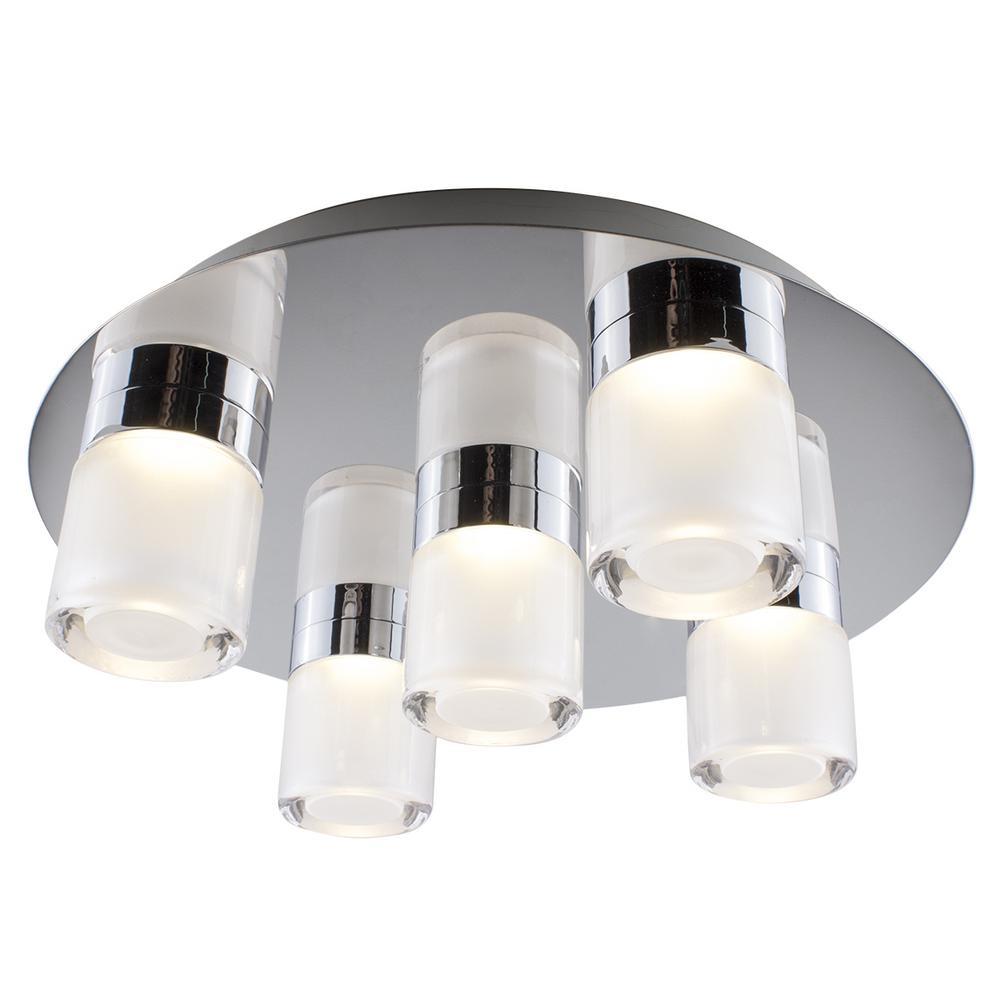 14 in. Chrome Integrated LED Flushmount Light