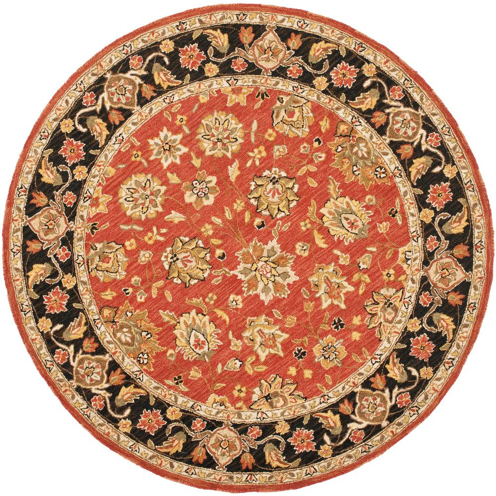 Safavieh Safavieh Chelsea Rose/Black 4 ft. x 4 ft. Round Area Rug