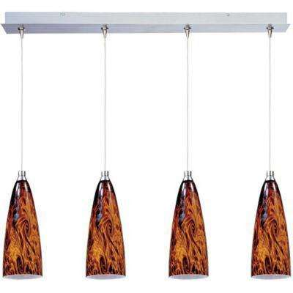 Amber Lava 4-Light RapidJack Pendant and Canopy