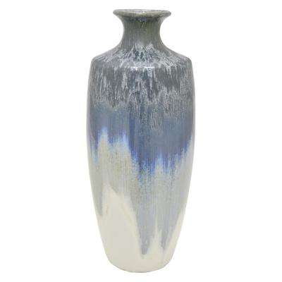 8 in. Blue Ceramic Decorative Vase