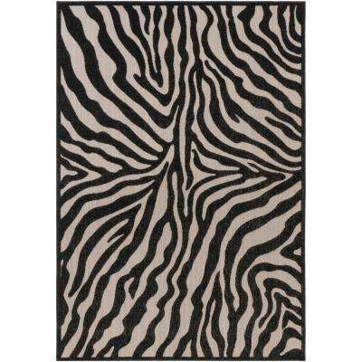 Mathilde Black 5 ft. x 7 ft. Indoor/Outdoor Area Rug