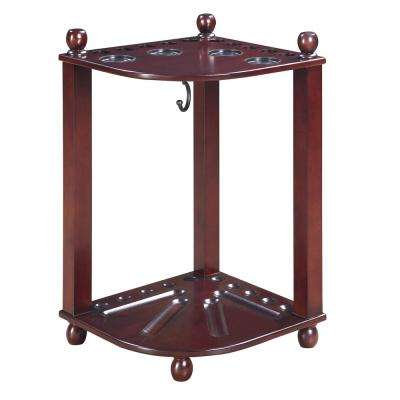 Regent Mahogany Finished Corner Floor Cue Rack