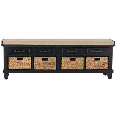 Martin Black 4 Basket Shoe Storage Bench