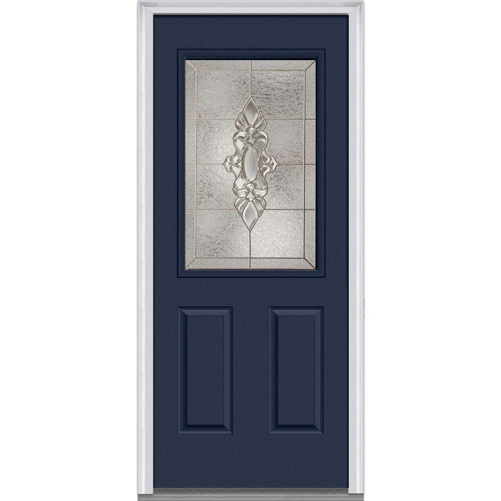 36 in. x 80 in. Heirloom Master Left-Hand 1/2-Lite Decorative 2-Panel