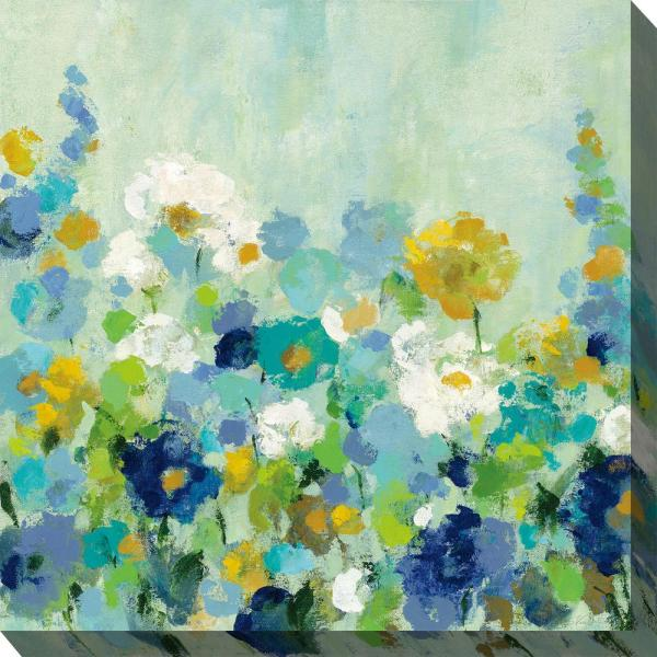 24 In X 24 In Midsummer Blue Outdoor Canvas Wall Art
