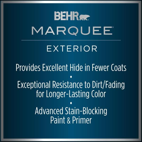 Reviews For Behr Marquee 5 Gal 590a 1 Icelandic Satin Enamel Exterior Paint Primer 945005 The Home Depot
