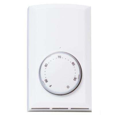 Double-Pole 22 Amp 120-Volt/240-Volt Wall-Mount Mechanical Non-programmable Thermostat in White