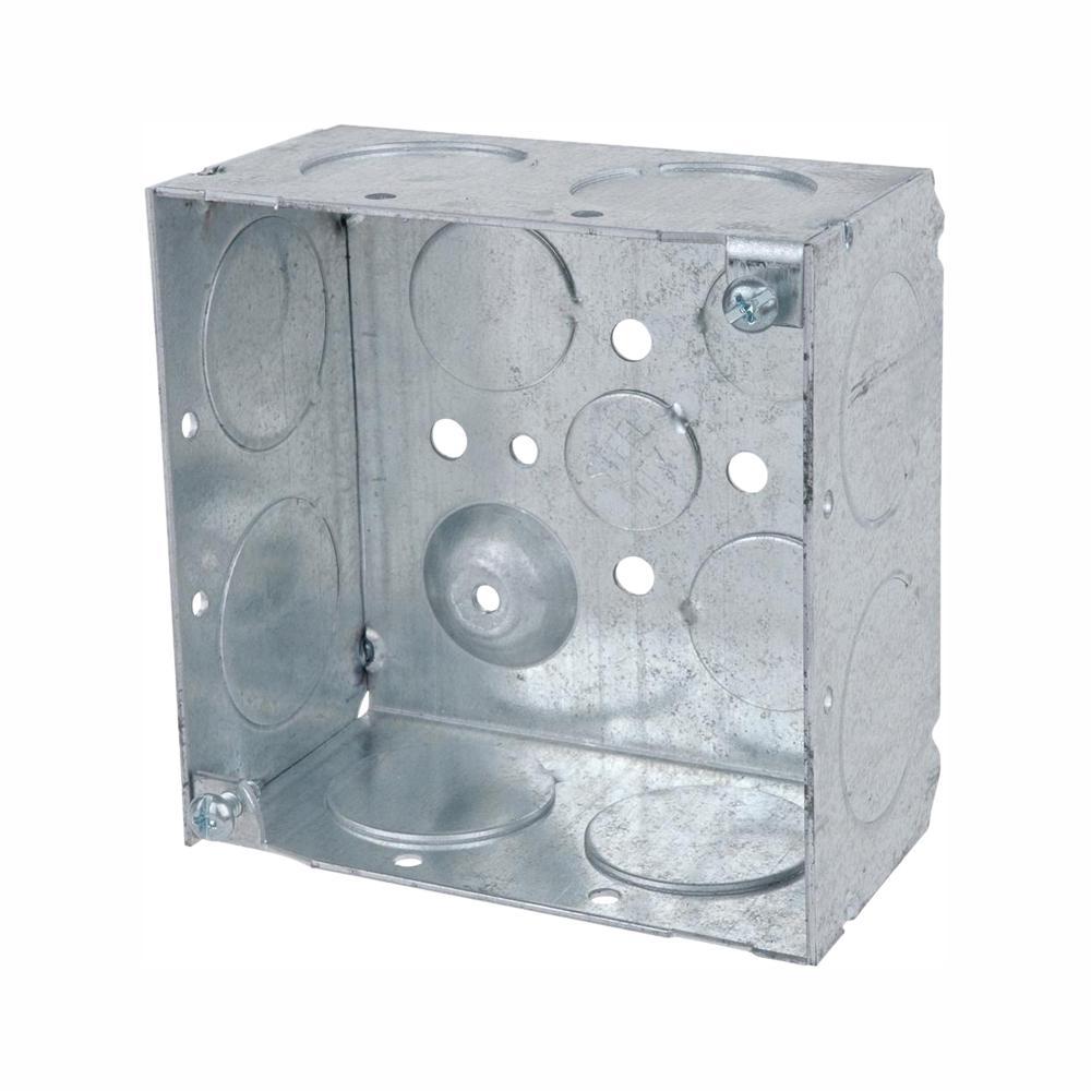 1-Gang 4 in. 30.3 cu. in. Metal Square Electrical Box (Case of 25)