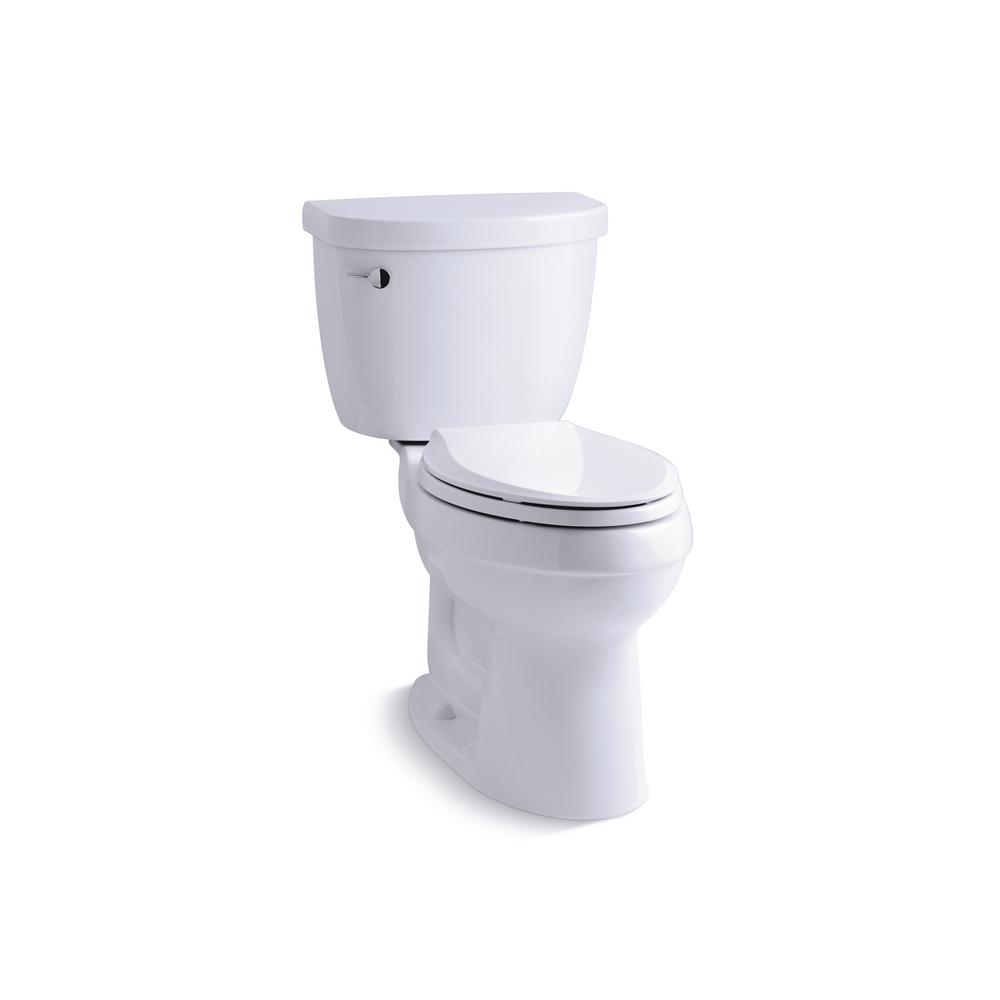Cimarron 2-Piece 1.28 GPF High Efficiency Elongated Toilet in White with
