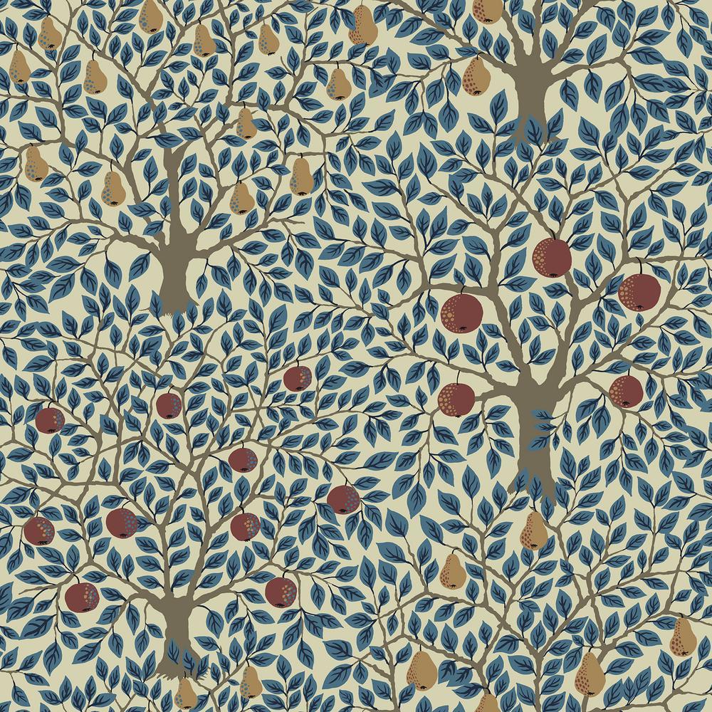 Pomona Blue Fruit Tree Wallpaper
