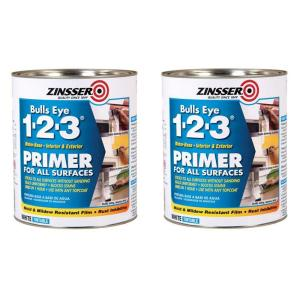 Bulls Eye 1-2-3 1 Qt. Water-Based White Primer/Sealer (2-pack)-DISCONTINUED