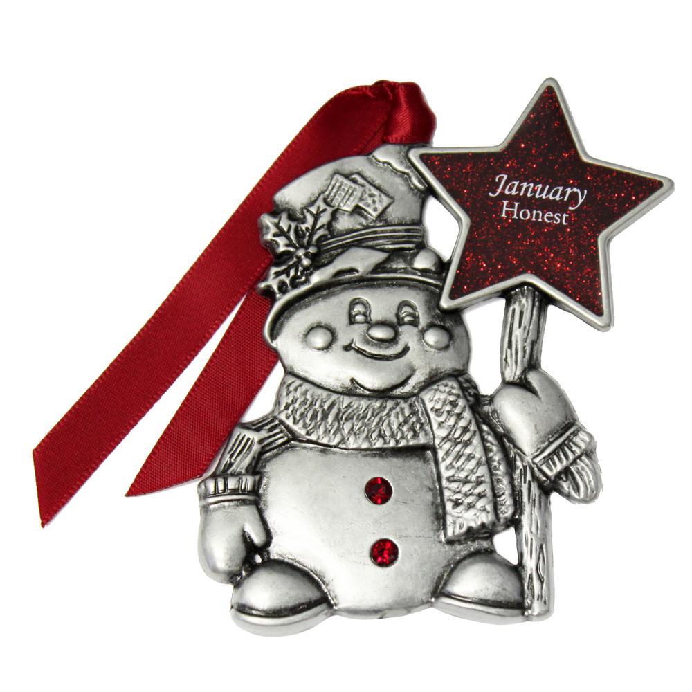 dcccc95d4 Gloria Duchin January Birthstone Snowman Ornament-2332JJA - The Home ...