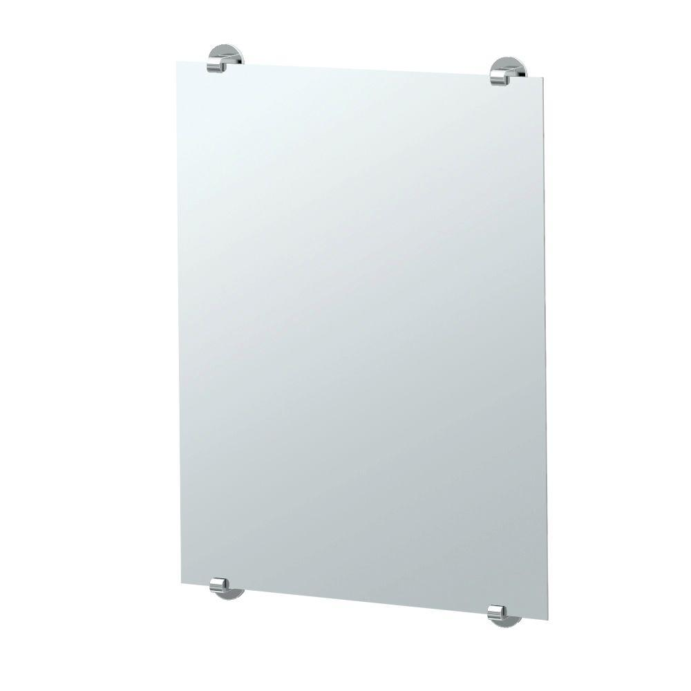 Minimalist Single Wall Mirror In Chrome 1568 The Home Depot