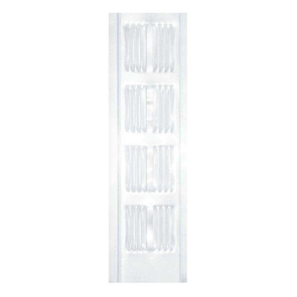 White Aluminum Continuous Vent Soffit 84302   The Home Depot. Air Vent 2 75 in  x 96 in  White Aluminum Continuous Vent Soffit