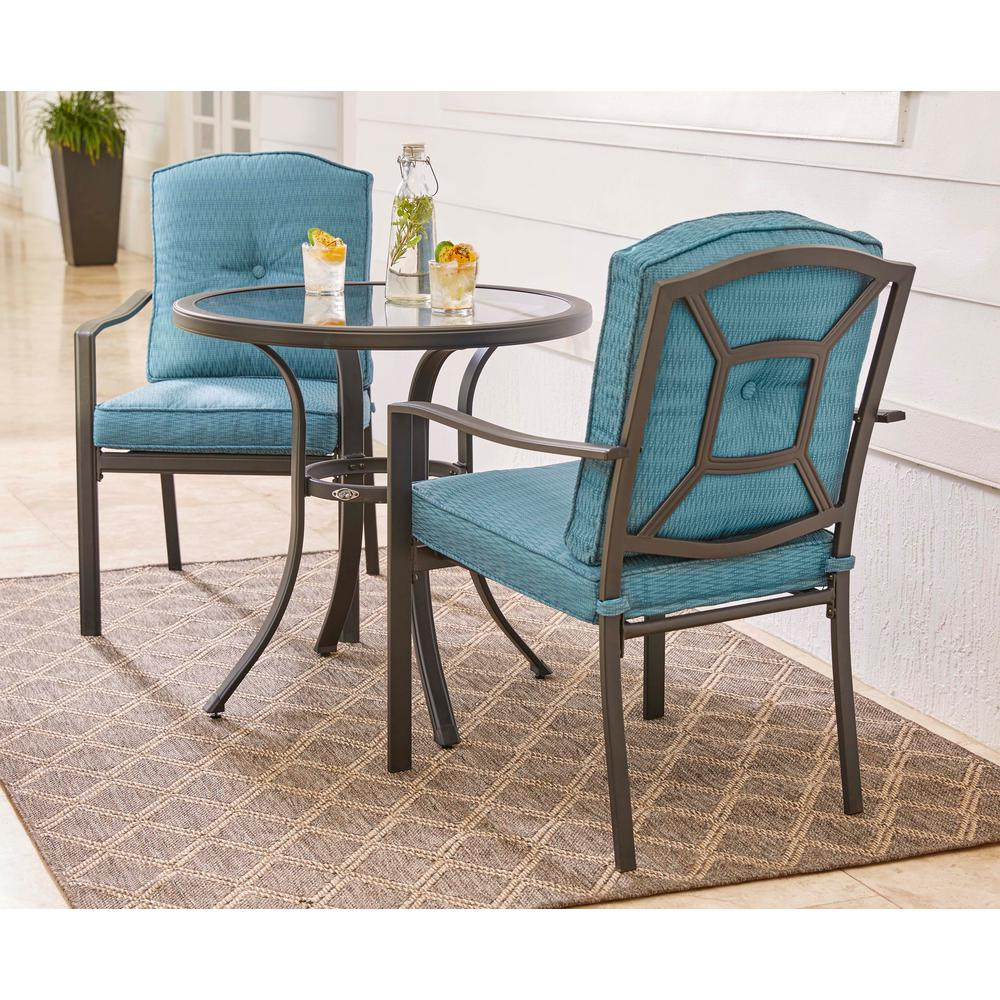 Lovely Hampton Bay Elmont 3-Piece Patio Dining Set-FZS80364CST-3-2 - The  LW98