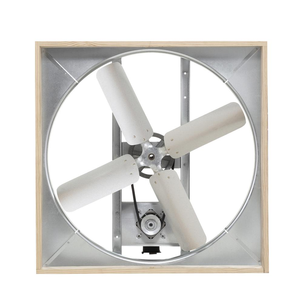 Master Flow 6000 Cfm 30 In Belt Drive Deluxe Whole House Fan With Shutter