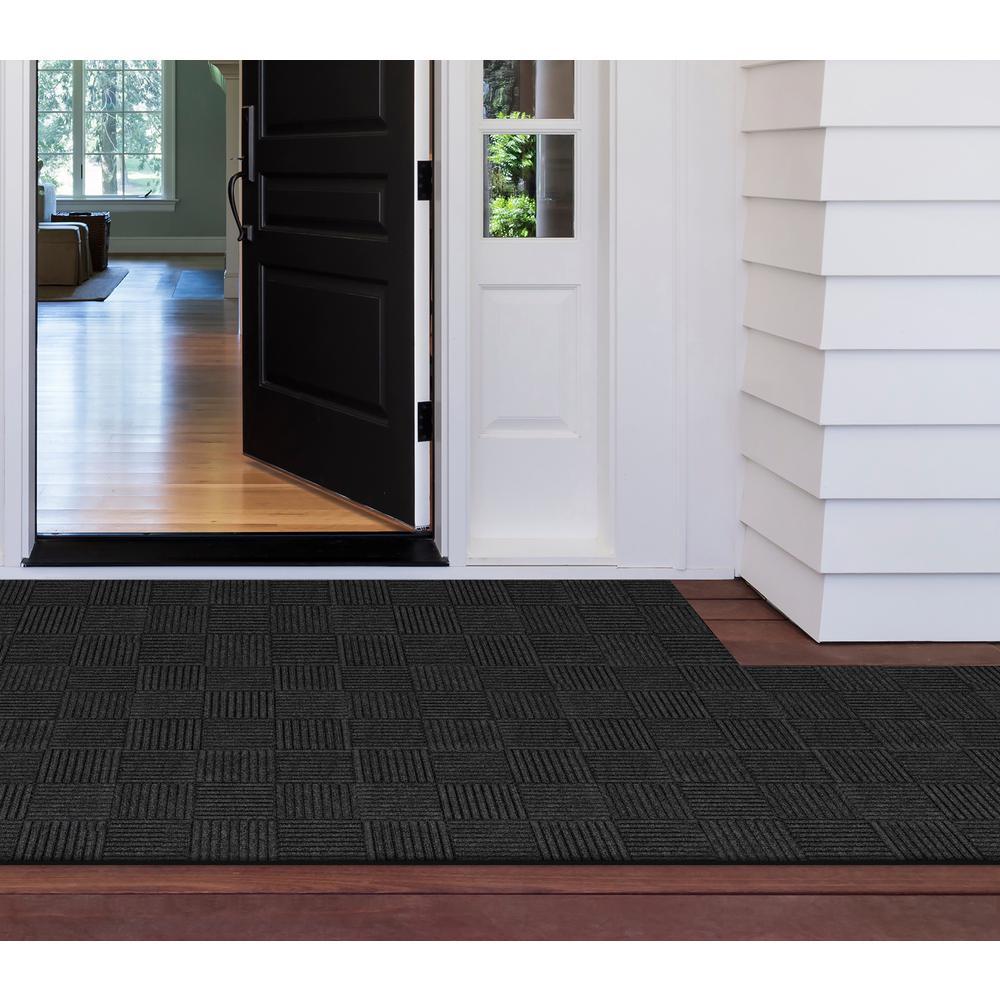 Self-Stick Mat Charcoal 18 in. x 18 in. Floor Mat Carpet Tiles (18 sq. ft.) (8-Pack)