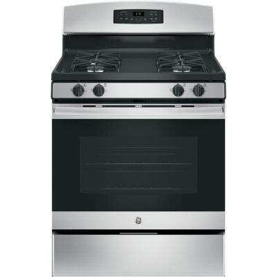 30 in. 5.0 cu. ft. Free-Standing Gas Range with Self-Cleaning Oven in Stainless Steel