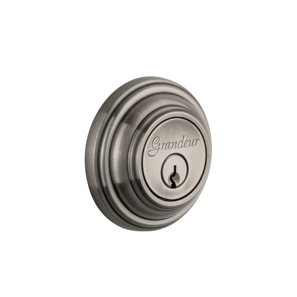 Nostalgic Warehouse Georgetown Antique Pewter Double Cylinder Deadbolt - Keyed Differently