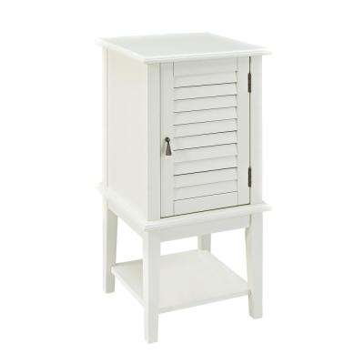 White Shutter Door Table