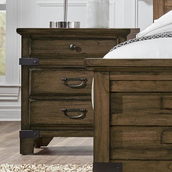 Lifestyle Solutions Baltimore Vintage Brown Nightstand