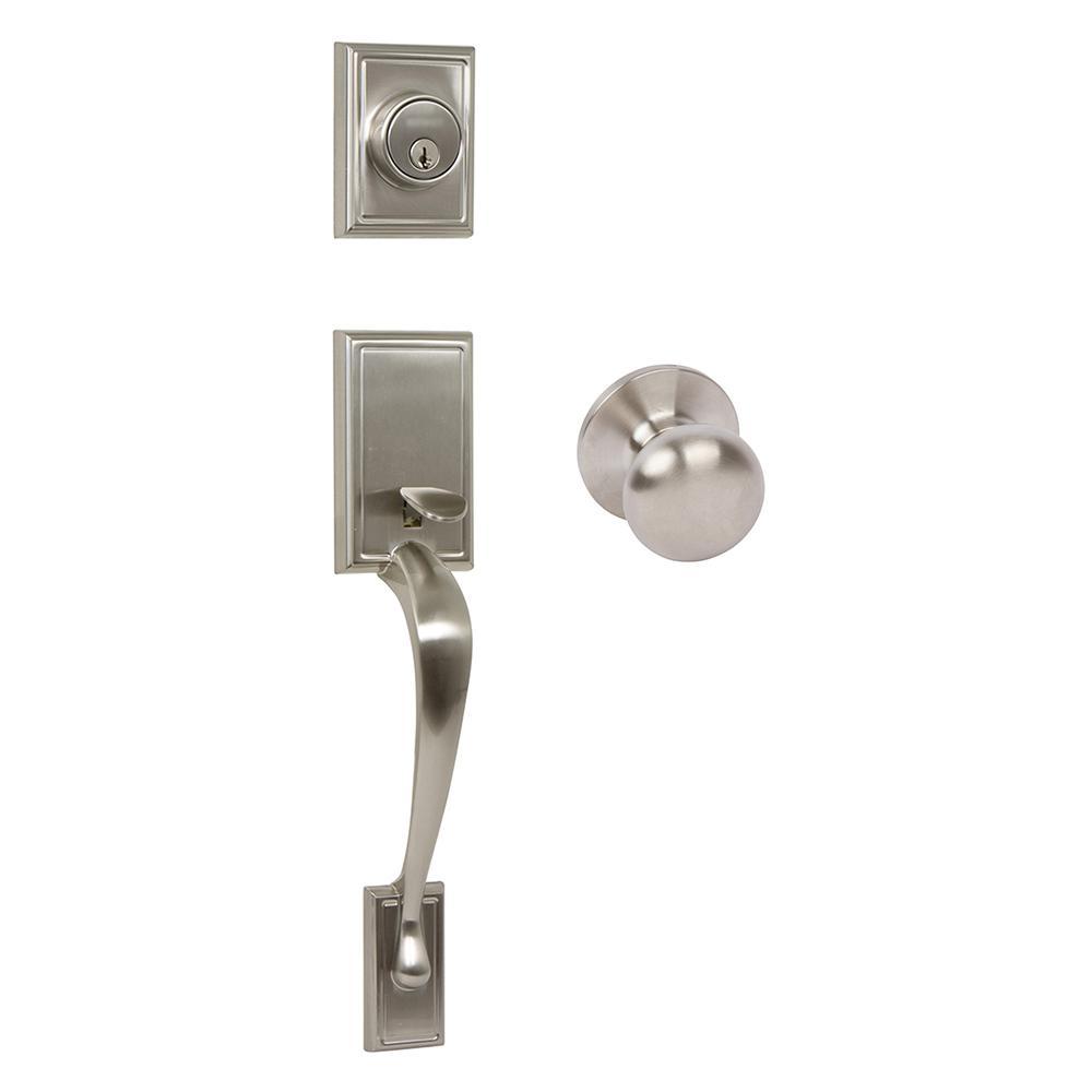 Kellington Satin Nickel Double Cylinder Deadbolt Entry Door Handleset