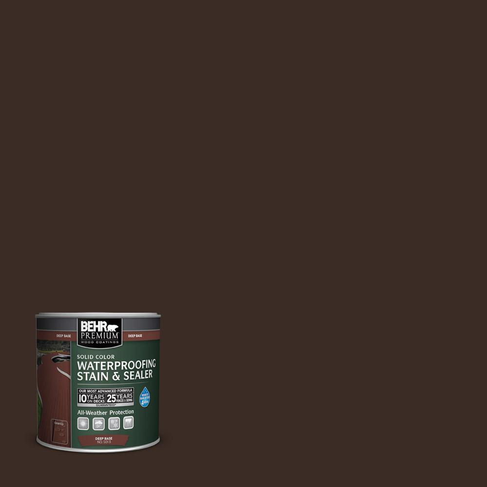 8 oz. #SC-103 Coffee Solid Color Waterproofing Stain and Sealer Sample