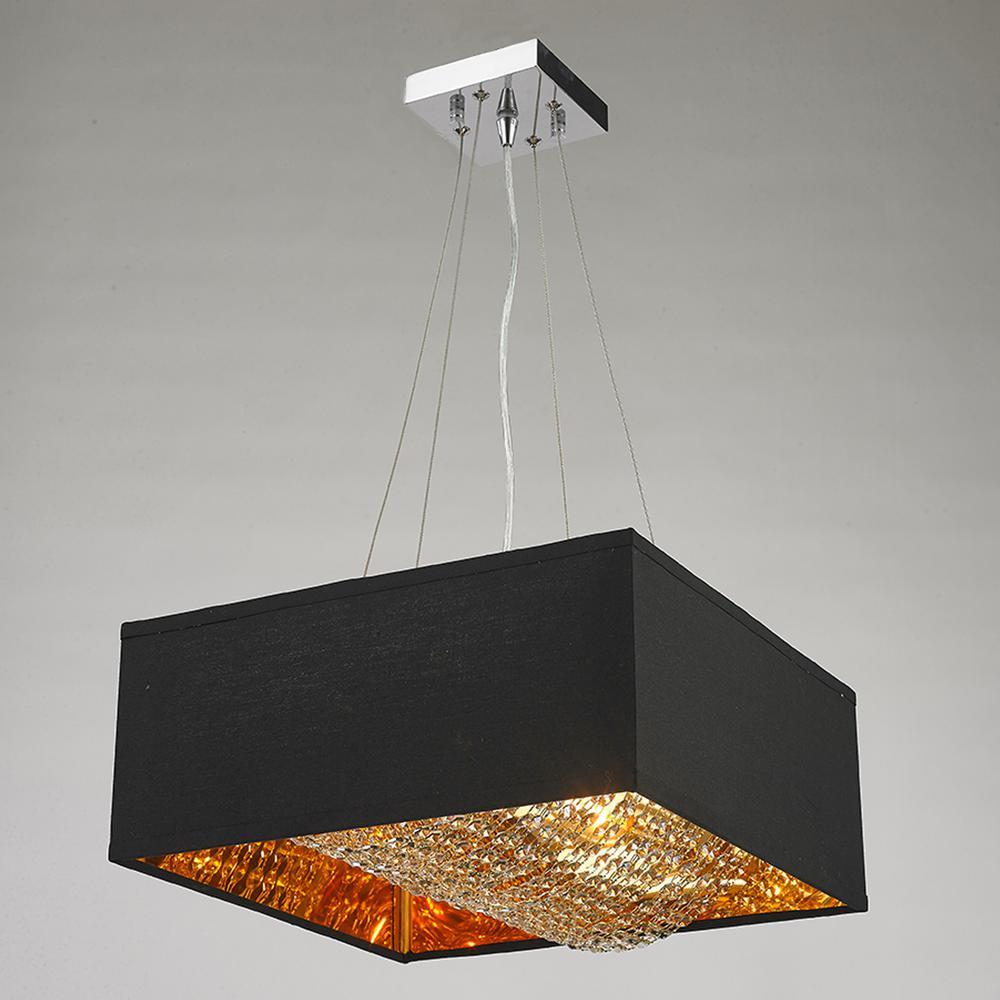 Light Matte Gold Finish Square Pendant