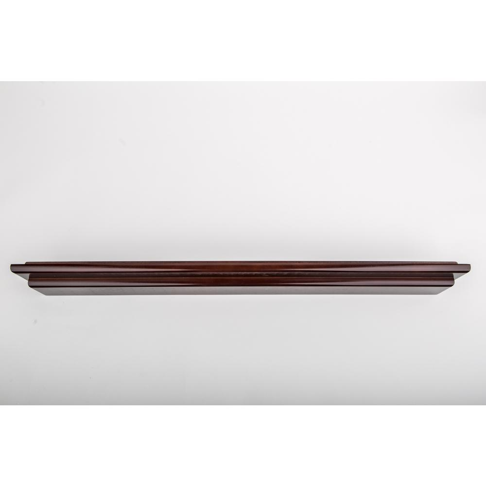 48 in. W X 2.5 in. D Chocolate Mantle Floating Wall