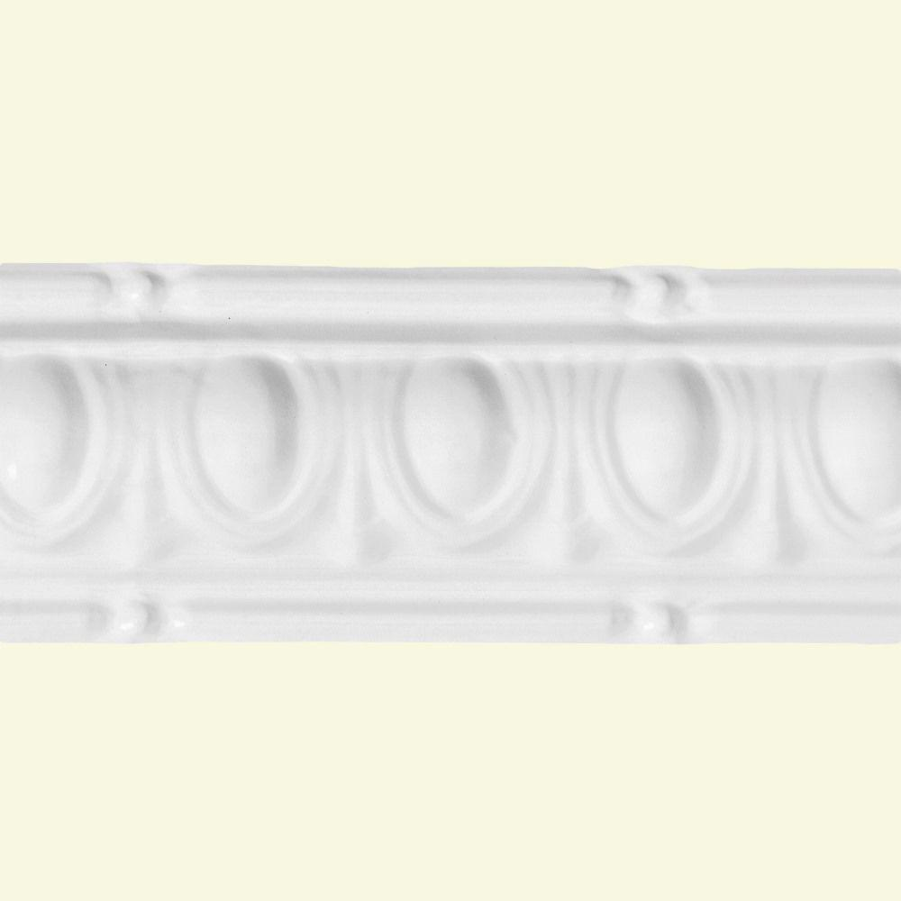 Huron Gloss White 6 In Crown Molding