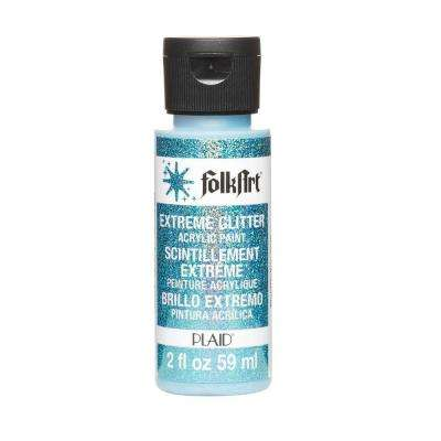 2 oz. Turquoise Extreme Glitter Craft Paint