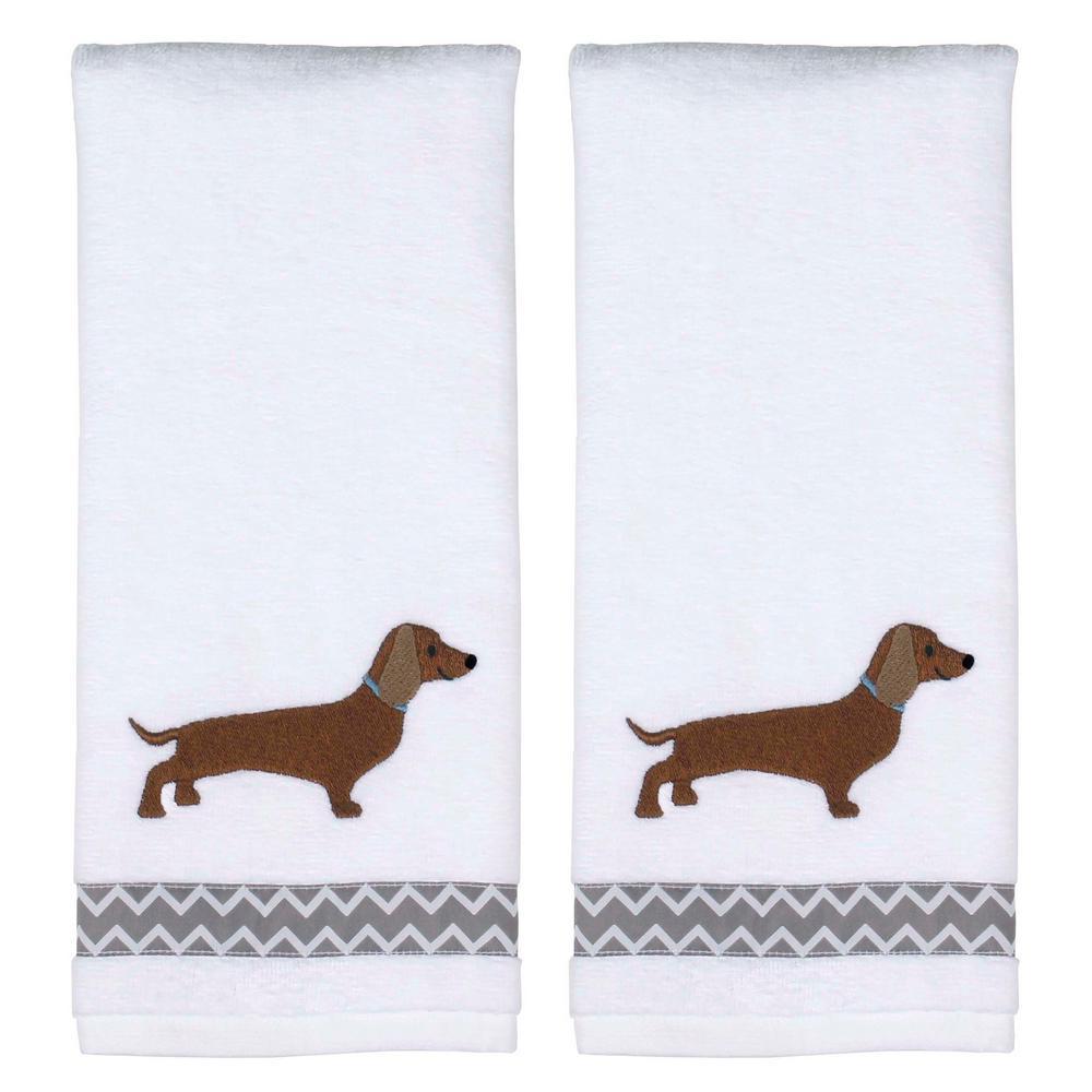 Saturday Knight Dachshund 2-Piece 100% Cotton Hand Towel ...