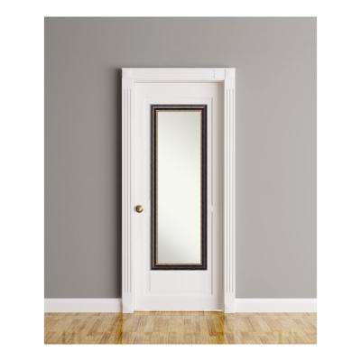 Tuscan Rustic wood 18 in. W x 52 in. H On The Door Mirror