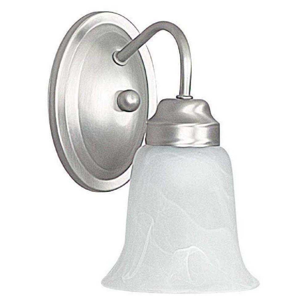 1-Light Satin Nickel Vanity Light