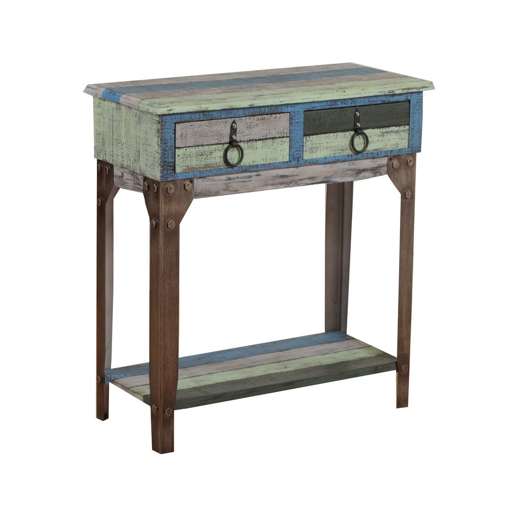 Merveilleux Powell Colorful Calypso Small Console Table