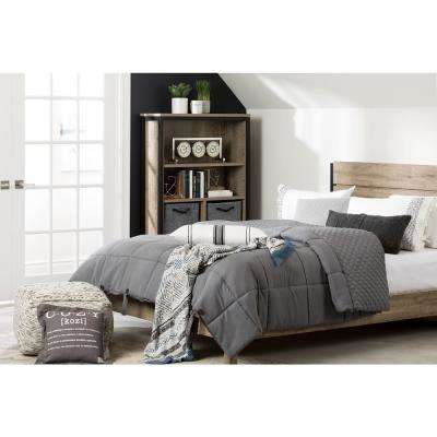 Lodge Gray Queen Quilted Comforter and Pillow Shams