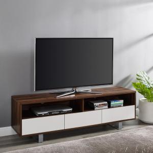 new arrival d6170 3a6ee Welwick Designs Modern 3-Drawer Dark Walnut Low TV Console ...