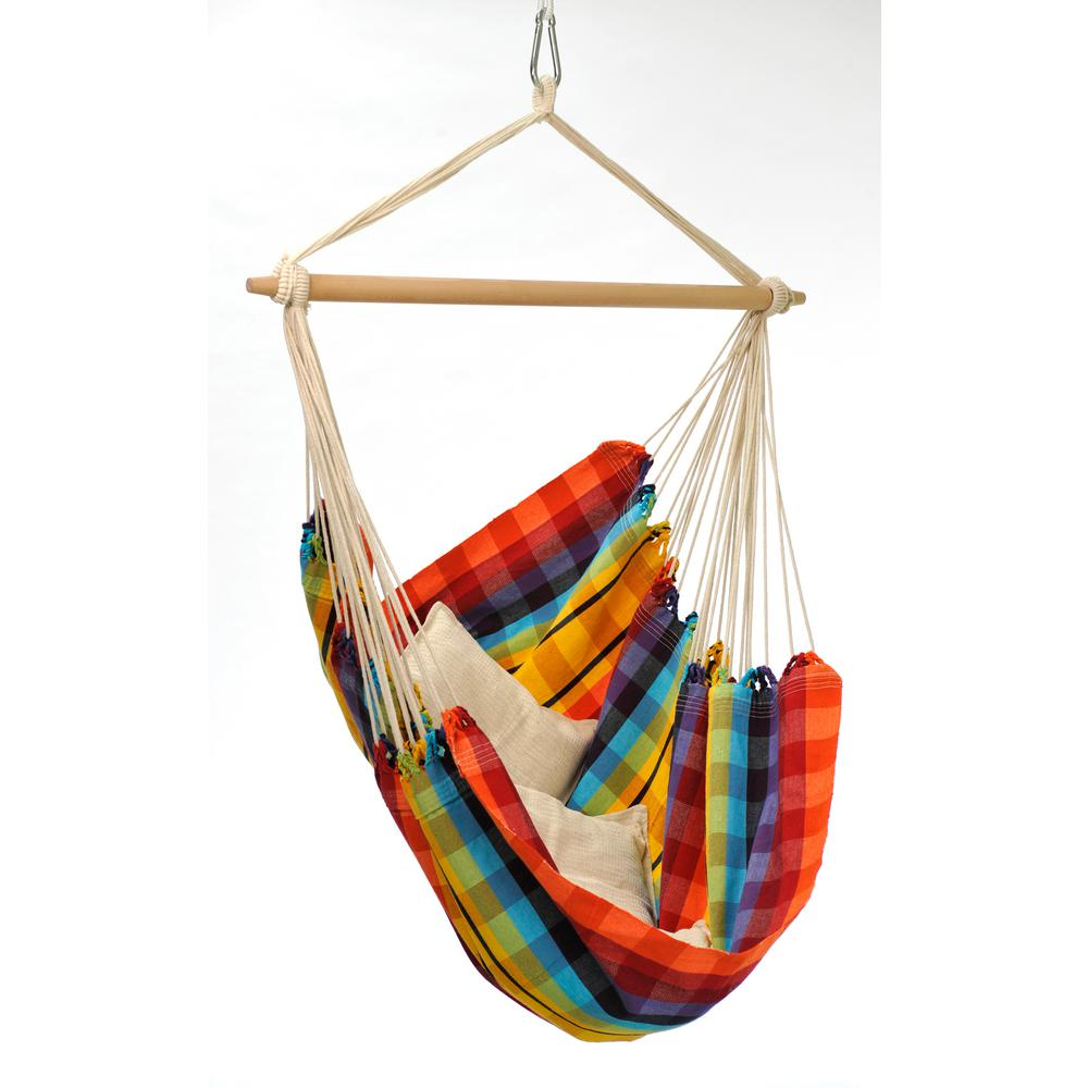 5 ft  8 in  cotton poly brazilian hanging chair vivere 15 ft  3 beam hammock stand in oil rubbed bronze 15beam orb      rh   homedepot